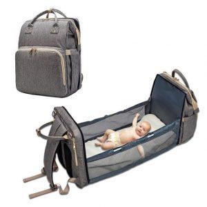Baby Wickelrucksack mit Bettfunktion